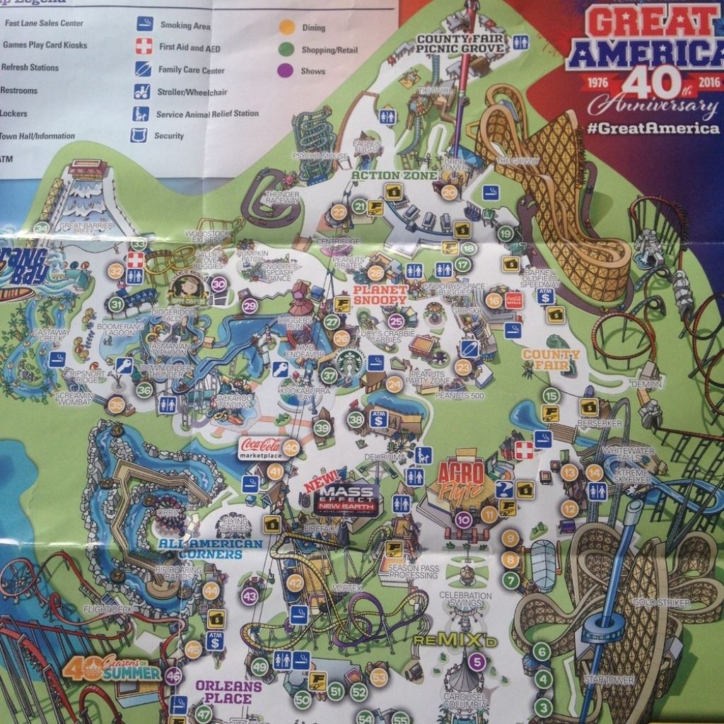 Great America Map Of California Springs S 0 - World Wide Maps - California's Great America Map