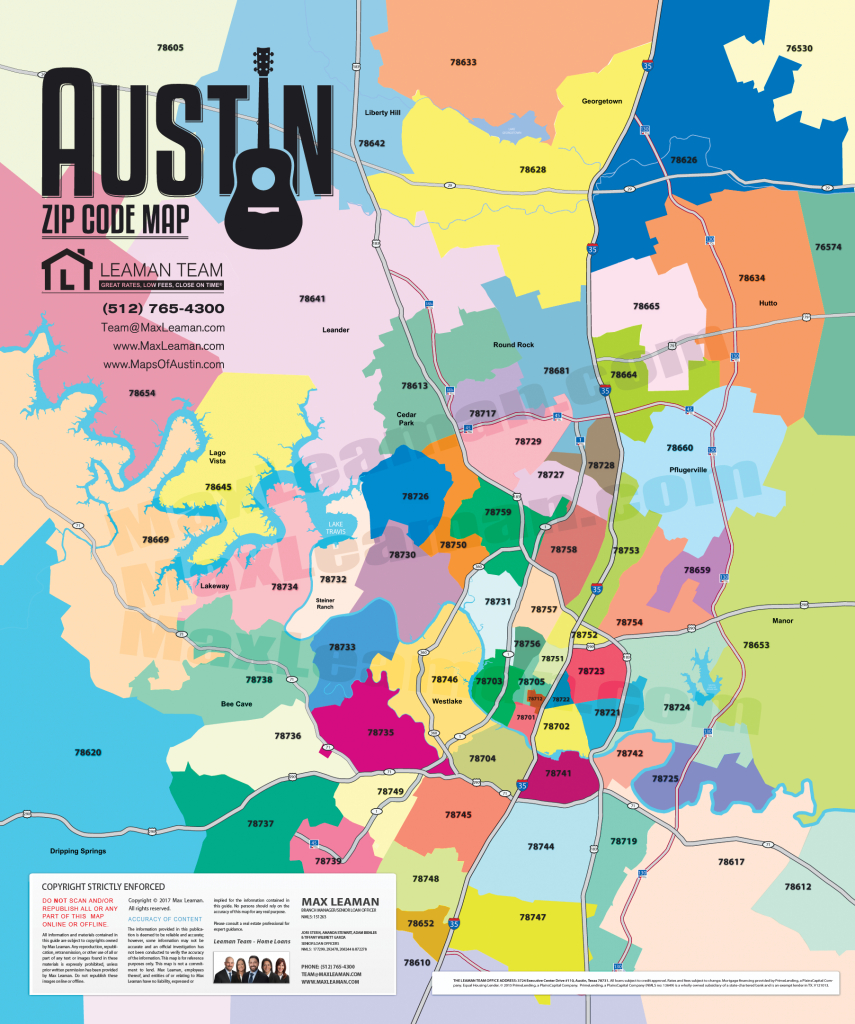 Greater Austin Area Zip Code Map | Mortgage Resources - San Antonio Zip Code Map Printable