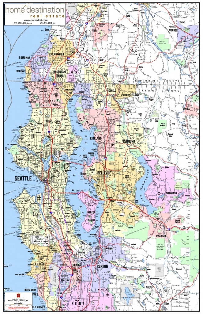 Greater Seattle Area Map - Map Of Greater Seattle Area (Washington - Printable Area Maps