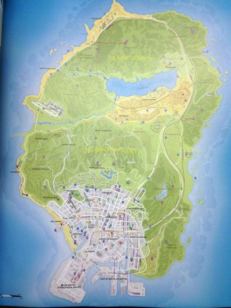 Gta 5 Full Map   Games ( Ps3 - Ps4 - Ps Vita - Xbox 360 - Xbox One - Gta 5 Printable Map