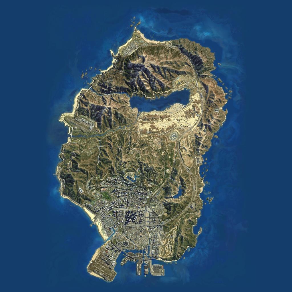 Gta V Maps [Quad-Ultra High Definition 8K Quality] - Bragitoff - Gta 5 Printable Map