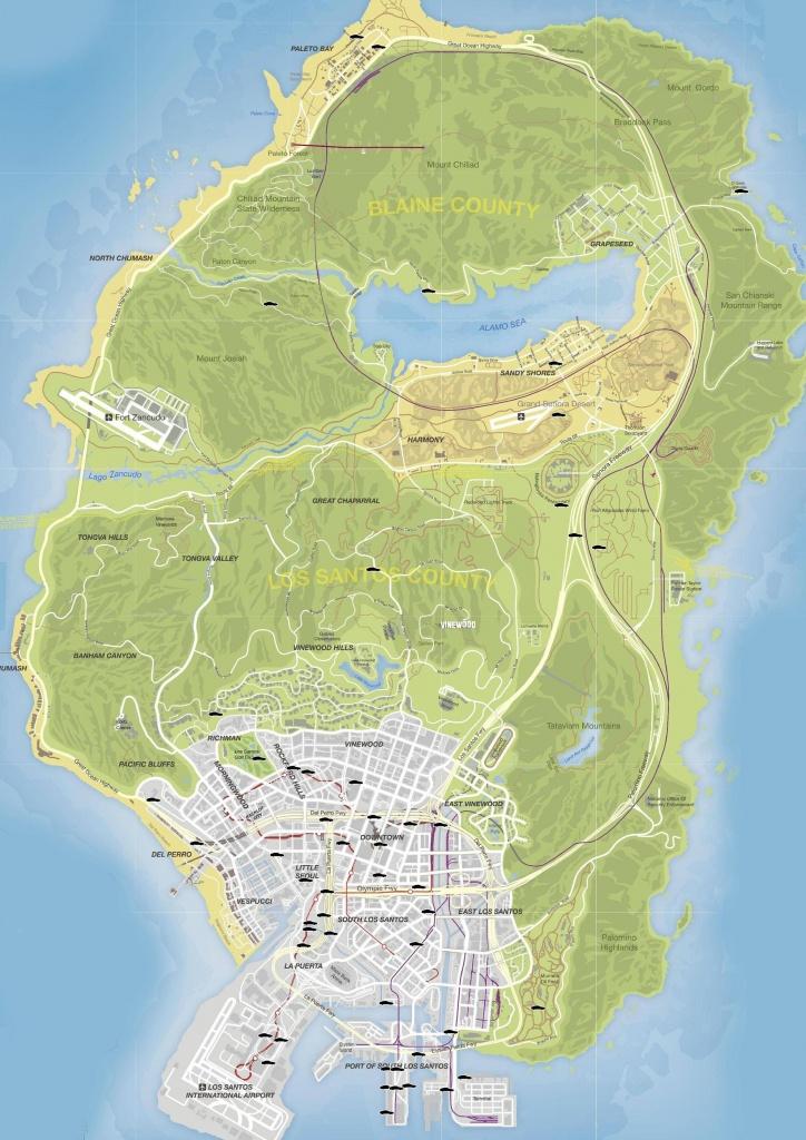 Gta V Stunt Jumps Maps And Locations Guide - Gamingreality - Gta 5 Map Printable