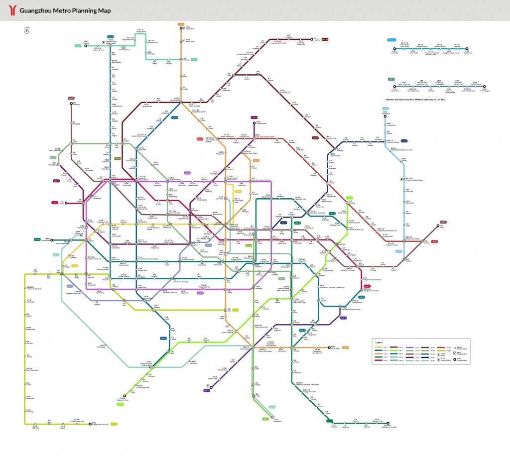 Guangzhou Metro Maps, Pdf Download: Subway Lines, Stations - Printable Dc Metro Map