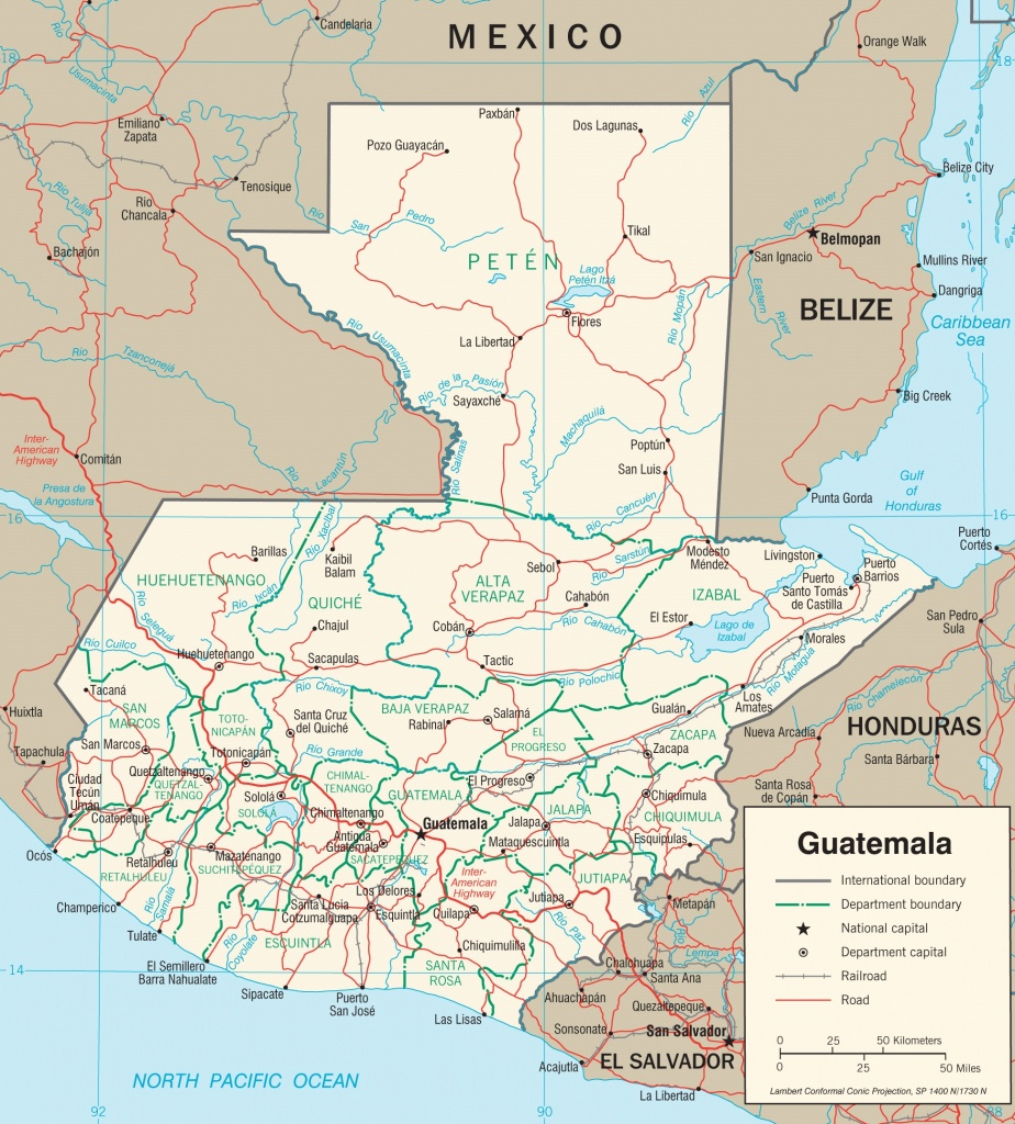 Guatemala Maps | Maps Of Guatemala - Printable Map Of Guatemala