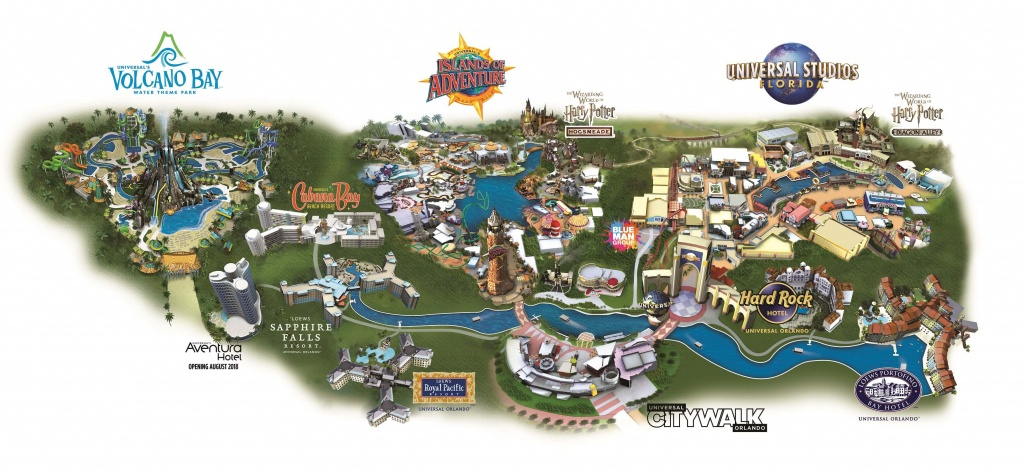 Guide To The Theme Parks At Universal Orlando Resort - Map Of Universal Florida Hotels