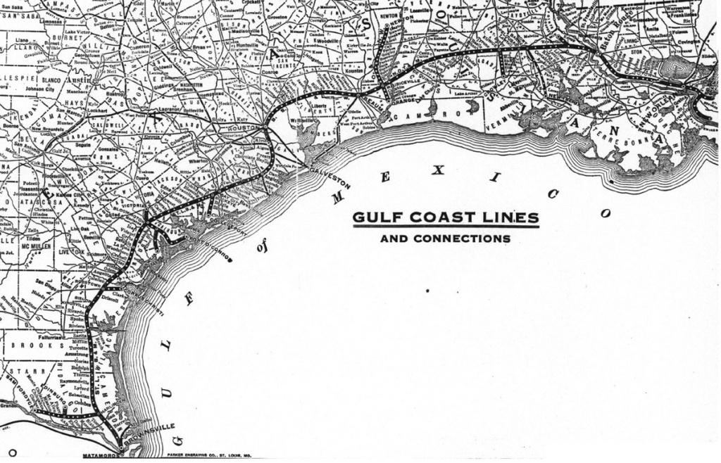Gulf Coast Lines - Wikipedia - Map Of Texas Coast