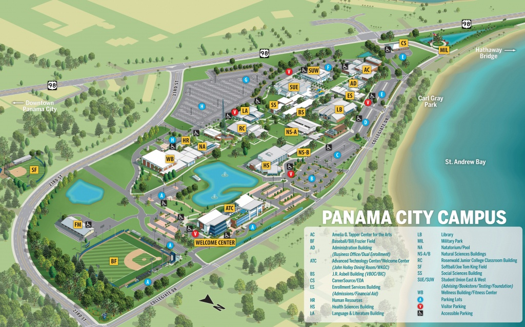 Gulf Coast State College | Campus Maps - Map Of Florida Gulf Coast