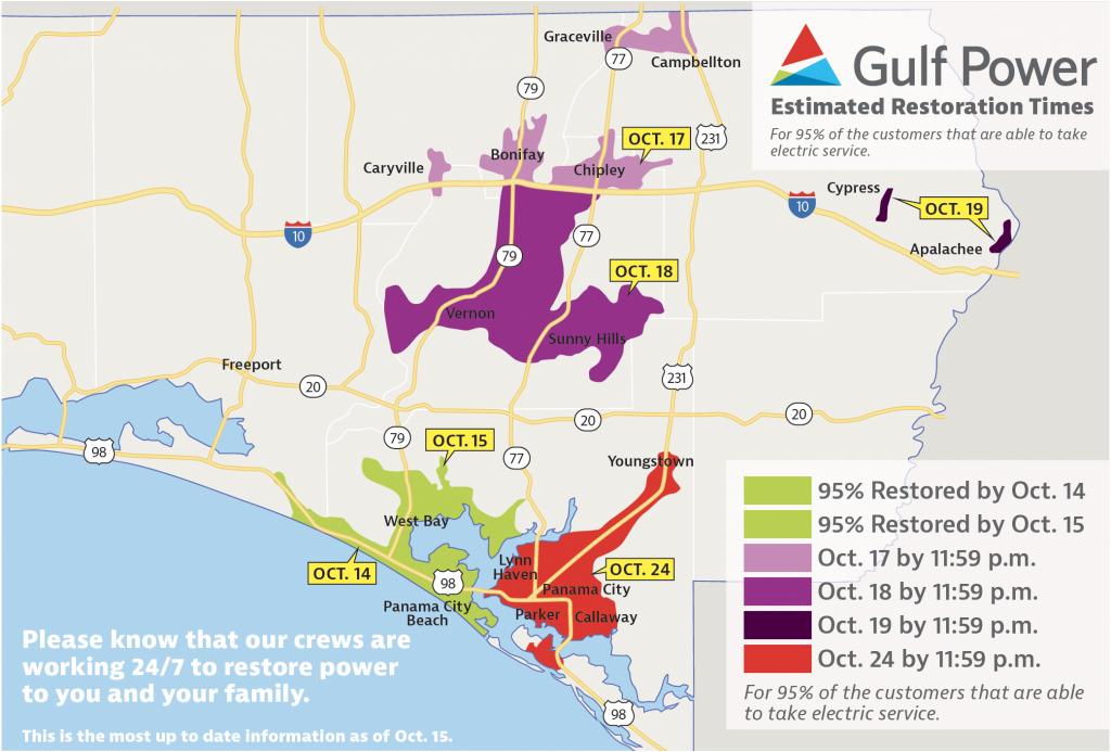Gulf Power Announces Panama City Beach All Powered Up – Oct. 15 - Panama Beach Florida Map
