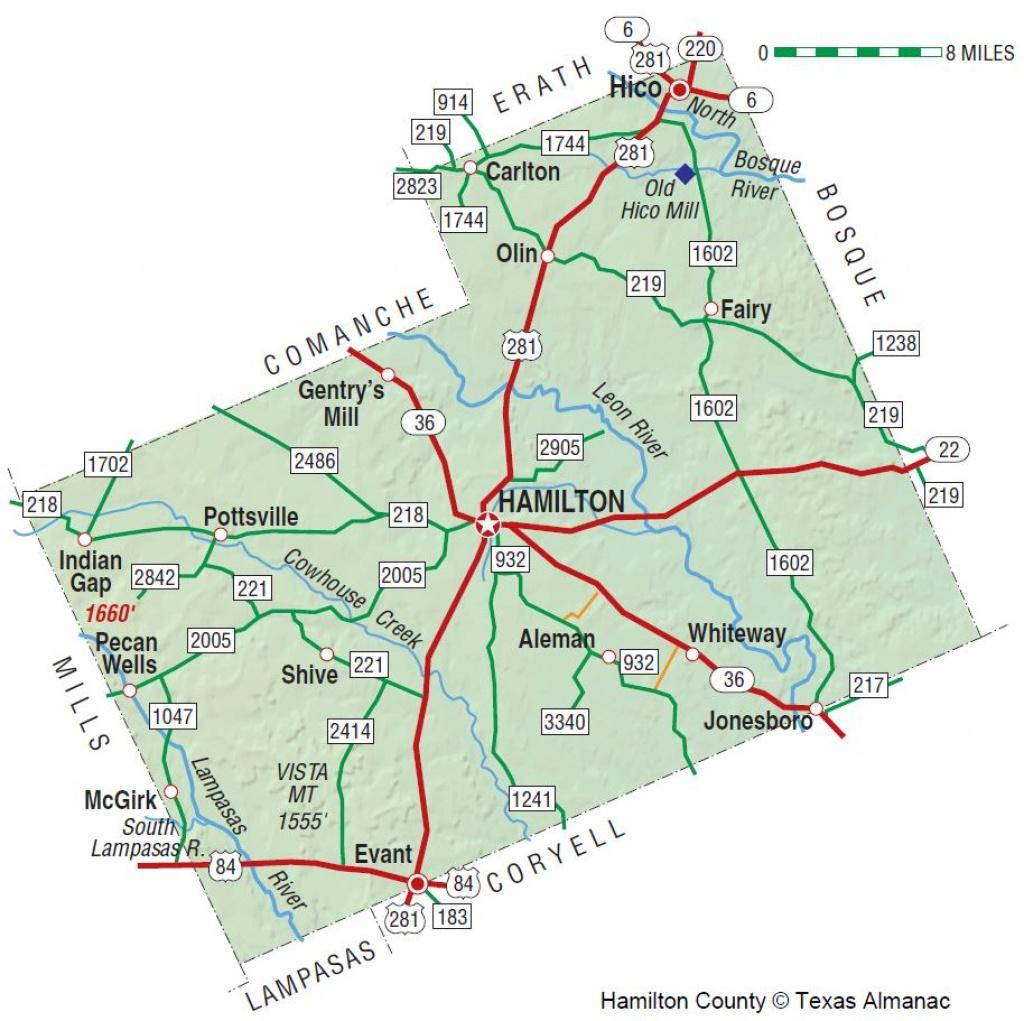 Hamilton County   The Handbook Of Texas Online  Texas State - Coryell County Texas Map