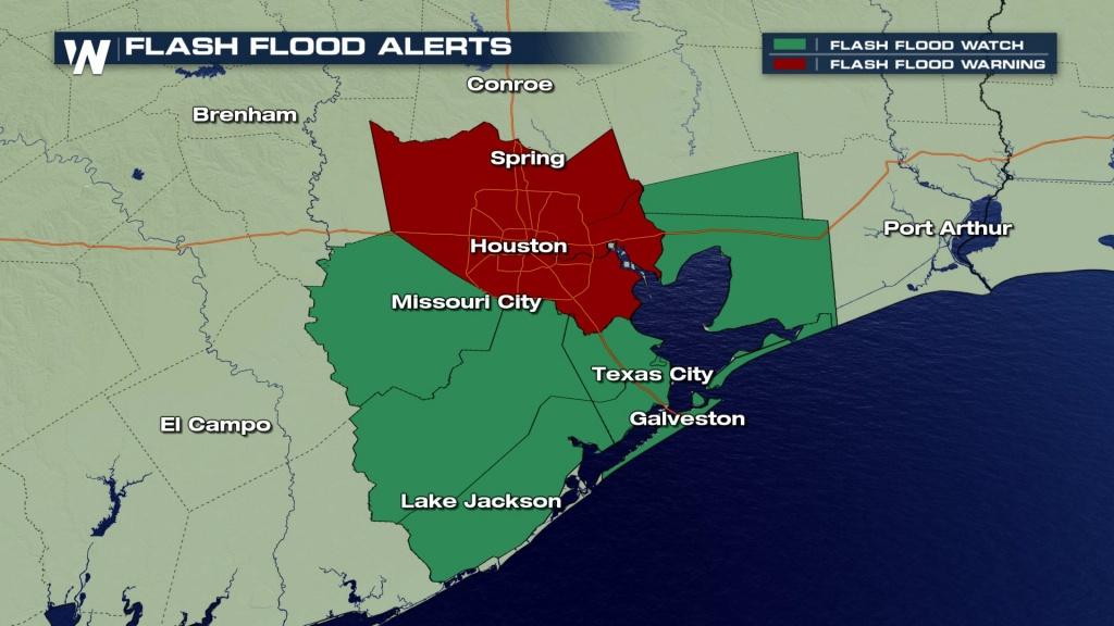 Happening Now: Heavy Rain, Flooding Threatening Houston & Southeast - Radar Map For Houston Texas