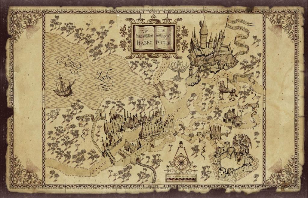 Harry Potter Map | Treasure Map Inspiration | Harry Potter Free - Harry Potter Map Marauders Free Printable