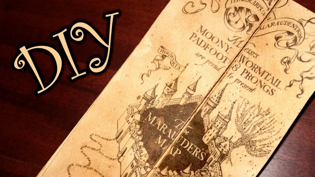 Harry Potter Marauder's Map - Diy - Youtube - Harry Potter Marauders Map Printable