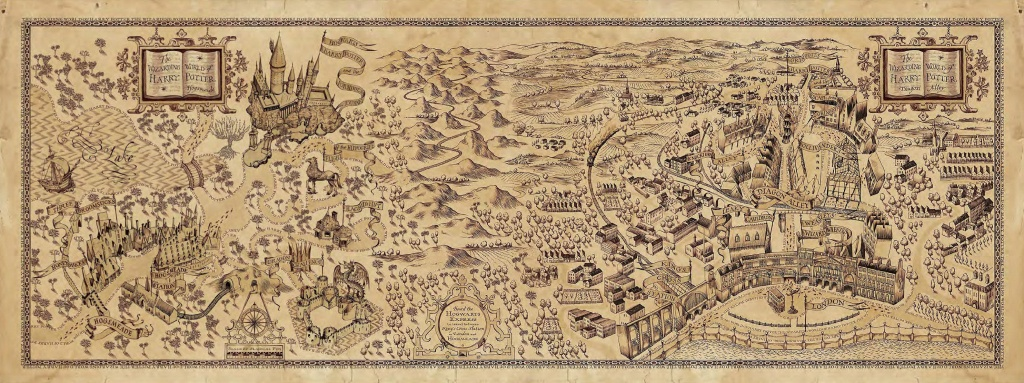 Harry Potter Marauders Map Printable (87+ Images In Collection) Page 1 - Harry Potter Map Marauders Free Printable
