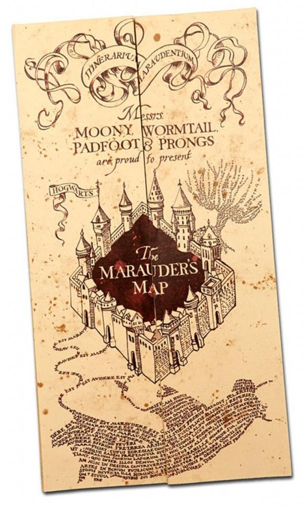 Harry Potter Paraphernalia: How To Make A Marauder's Map (Party - Harry Potter Map Marauders Free Printable