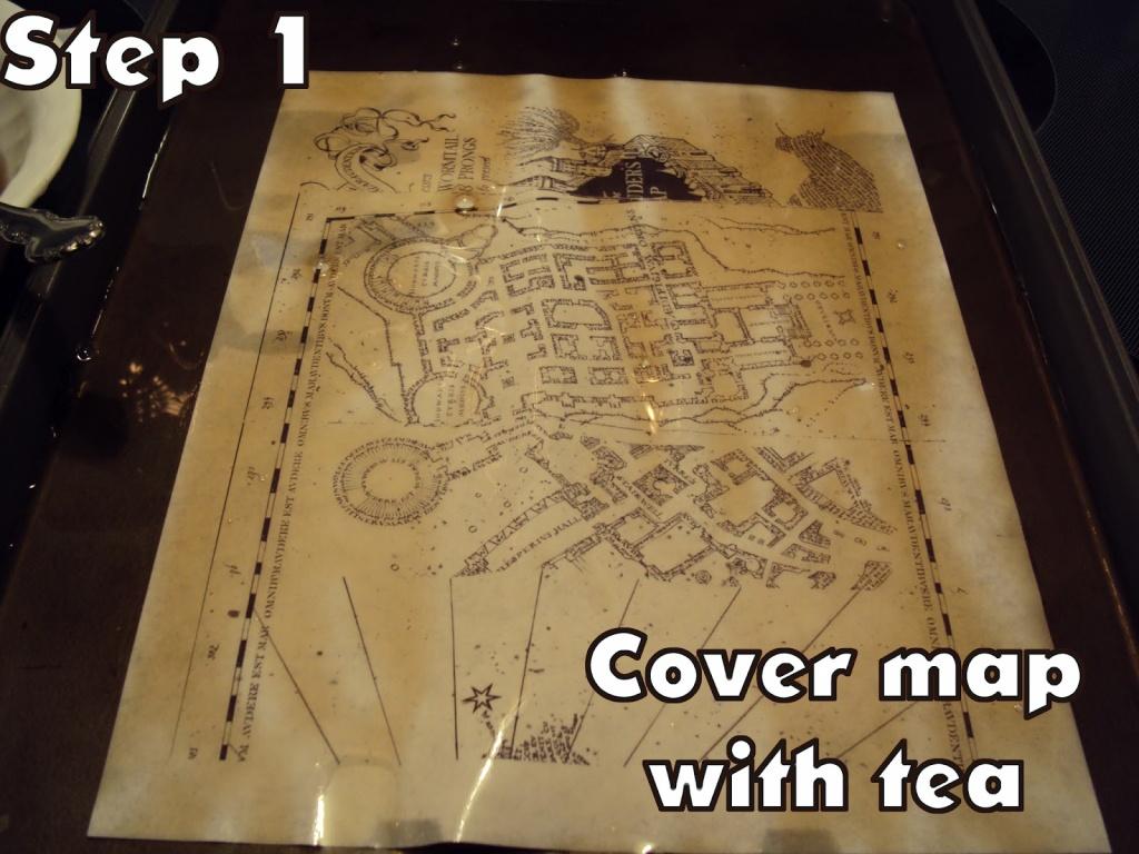 Harry Potter Paraphernalia: Marauder's Map: Inside And Outside - Hogwarts Map Printable
