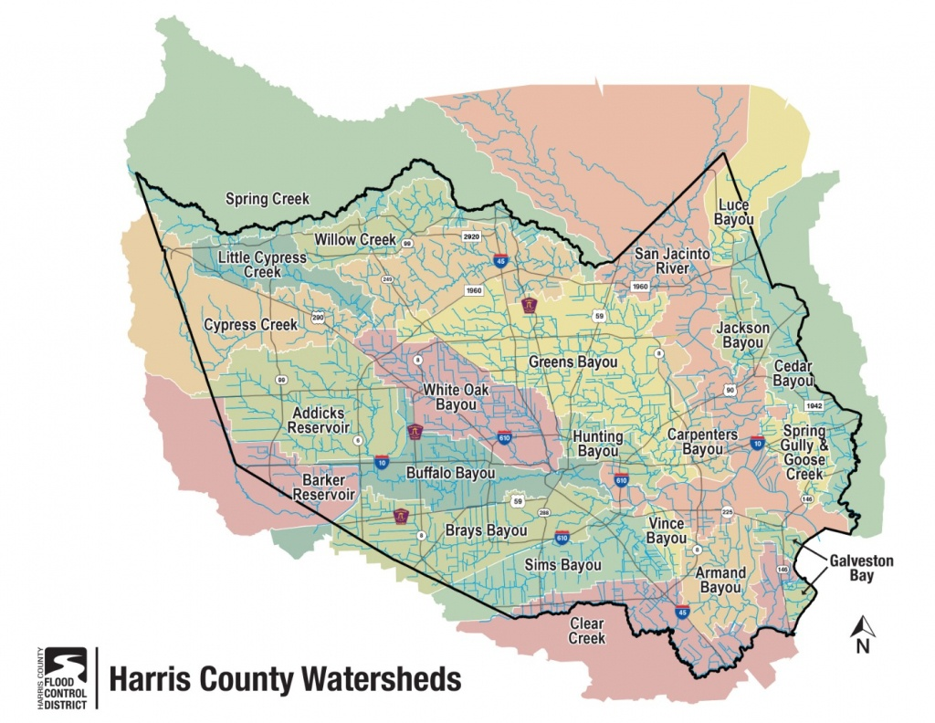 Hcfcd - Harris County's Watersheds - Harris County Texas Map