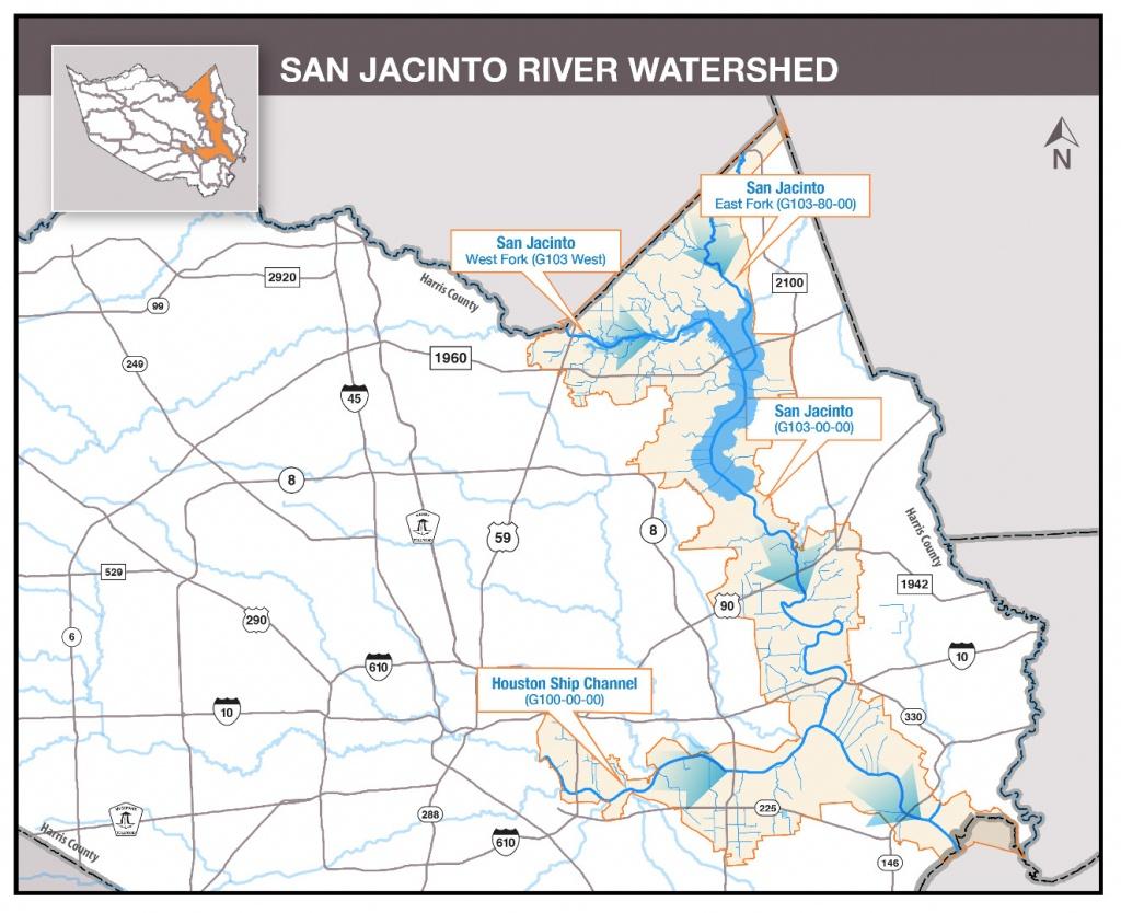 Hcfcd - San Jacinto River - Clear Lake Texas Flood Map