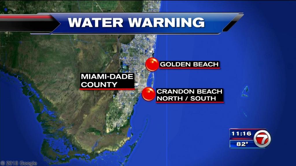 Health Department Issues Swim Advisory For South Florida Beaches Due - Florida Beach Bacteria Map 2018
