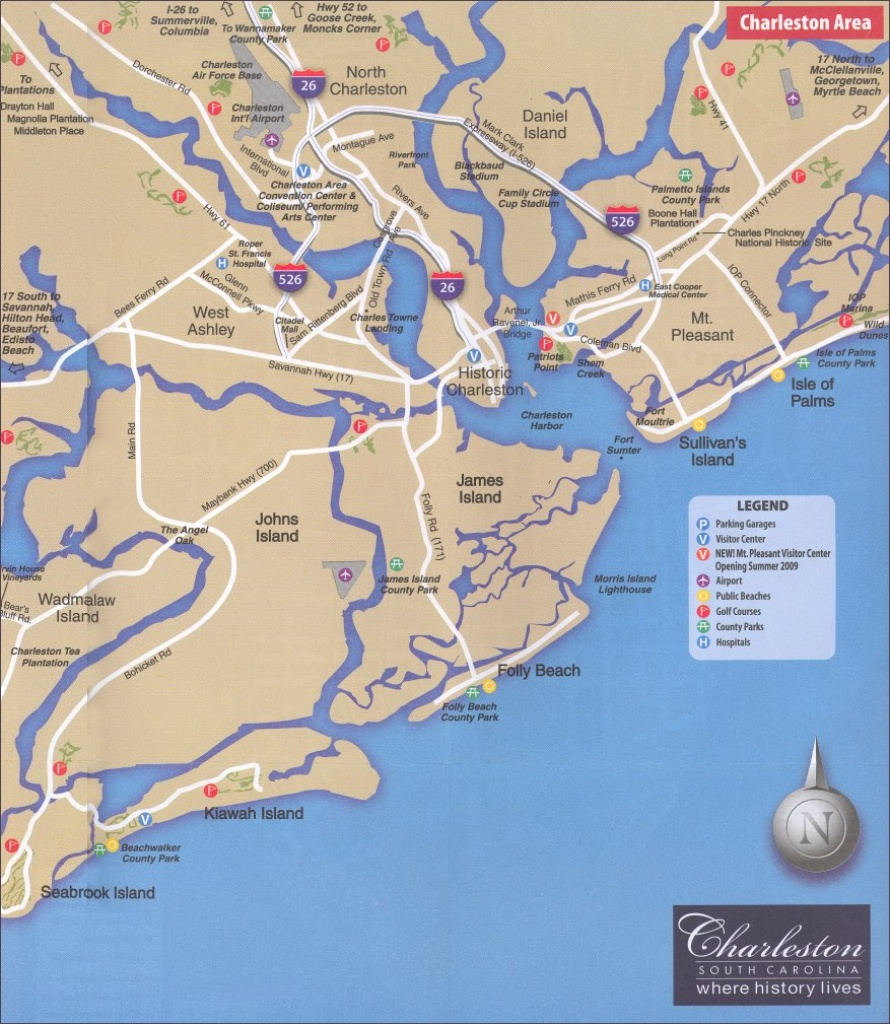 Helpful Charleston Sc Maps 2019 - Printable Map Of Charleston Sc