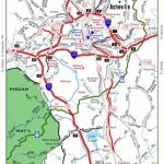 Helpful Travel Map Of Asheville. Stay In The Mountains Nearby At   Printable Map Of Downtown Asheville Nc