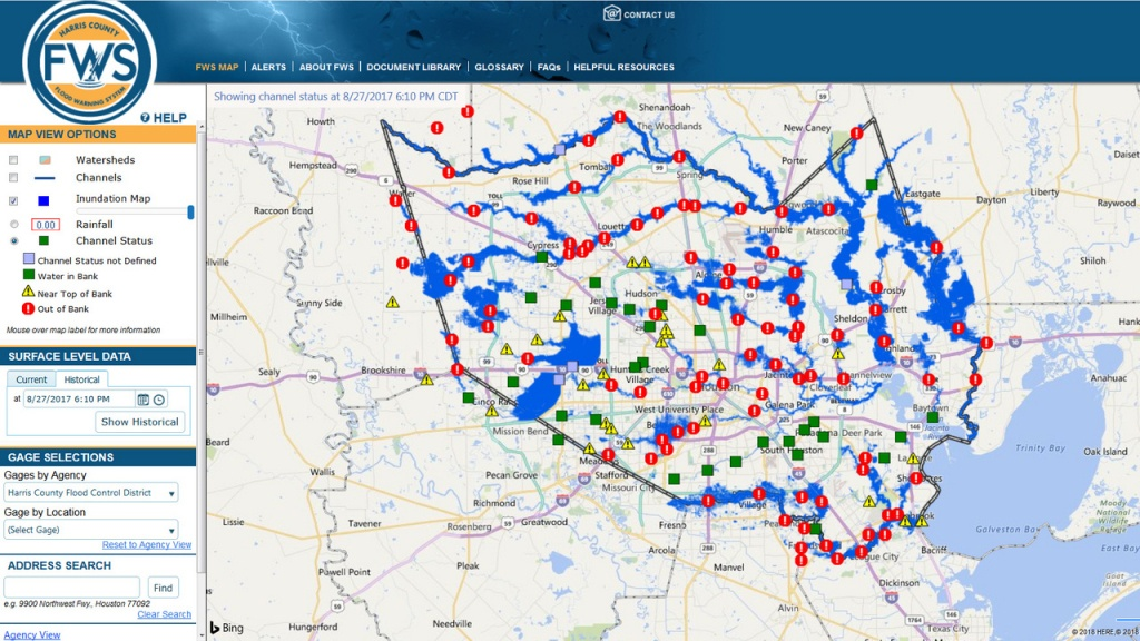 Here's How The New Inundation Flood Mapping Tool Works - Spring Texas Flooding Map