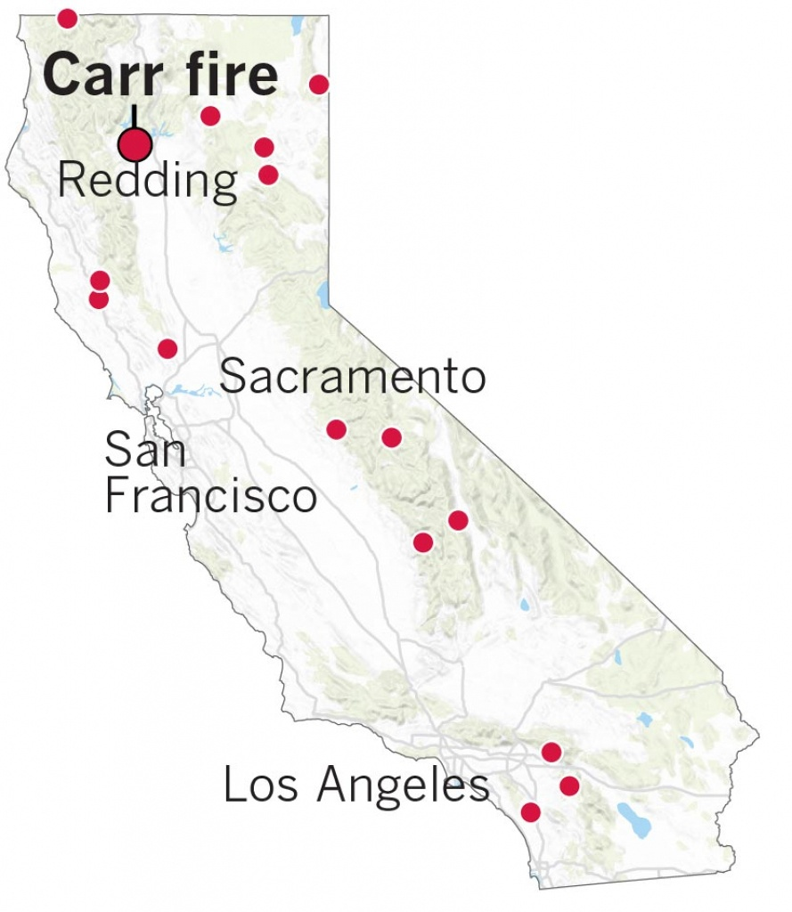 Here's Where The Carr Fire Destroyed Homes In Northern California - 2018 California Fire Map