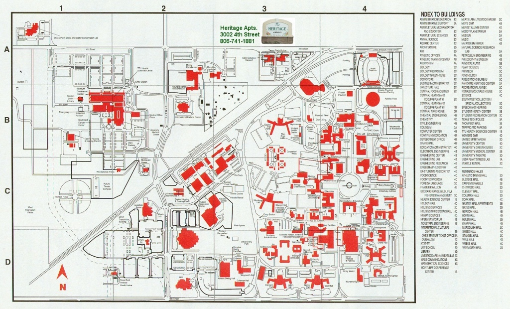Heritage 20Texas 20Tech 15 Texas Tech Campus Map | Ageorgio - Texas Tech Campus Map