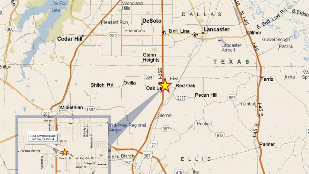 Hickory Creek Dr & Locustberry Dr, Red Oak, Tx 75154 - Land For Sale - Red Oak Texas Map