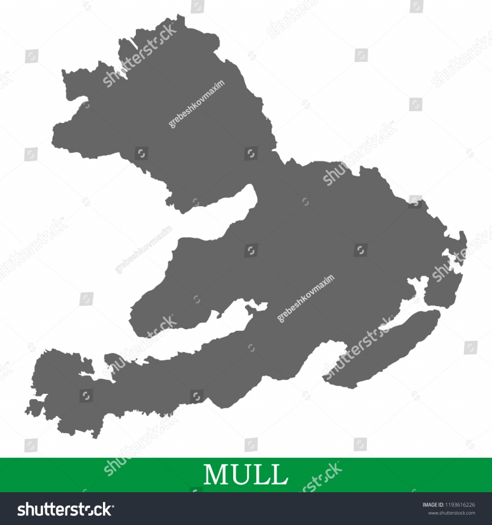 High Quality Map Mull Island United Stock Vector (Royalty Free - Printable Map Of Mull