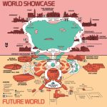 High Resolution 1982 Epcot Center Map   Free For Download/printing   Epcot Park Map Printable