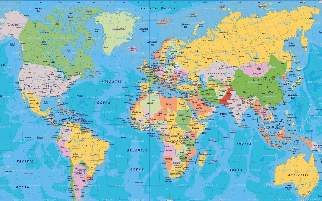 High Resolution World Map Pdf - Bing Images | Карты | World Map - Free Printable World Map Pdf