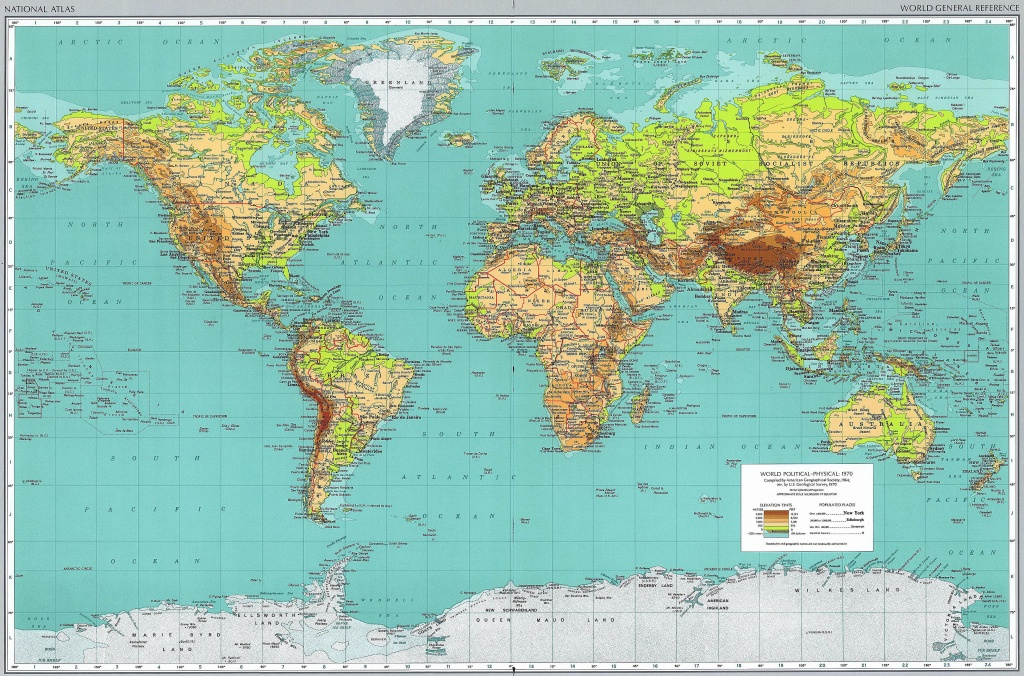 High Resolution World Map With Countries And Travel Information - Printable Wall Map