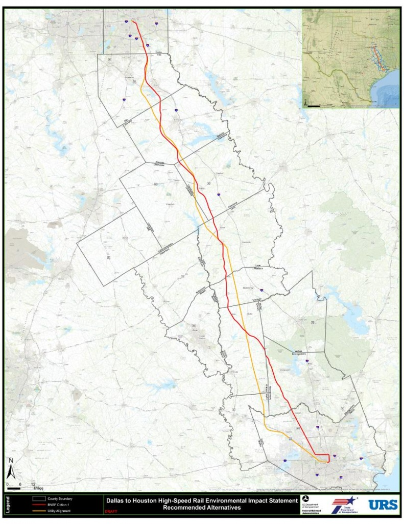 """High Speed Rail Project Moving Forward With New Focus On """"utility - Texas High Speed Rail Map"""
