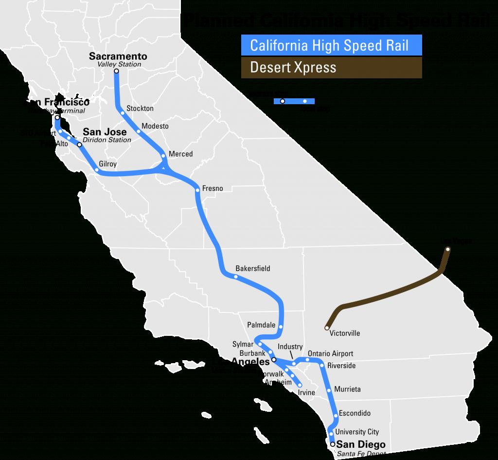 High Speed Rail To Las Vegas Breaks Ground 2017 - Canyon News - California Bullet Train Map