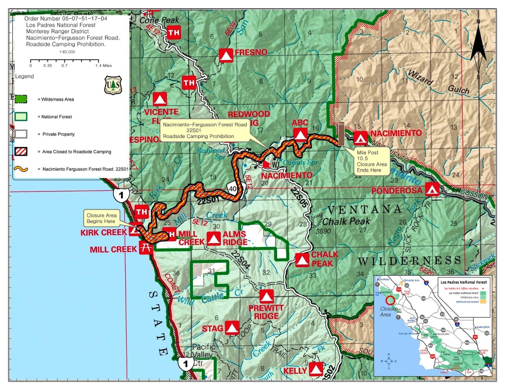 Highway 1 Conditions In Big Sur, California - Off Road Maps Southern California