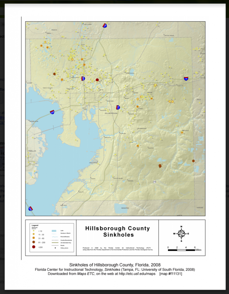 Hillsborough County Sinkhole Map - Affordable Inspections Of Tampa Bay - Florida Sinkhole Map By County