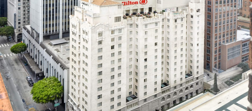 Hilton Checkers Los Angeles Hotel In Downtown - Map Of Hilton Hotels In California