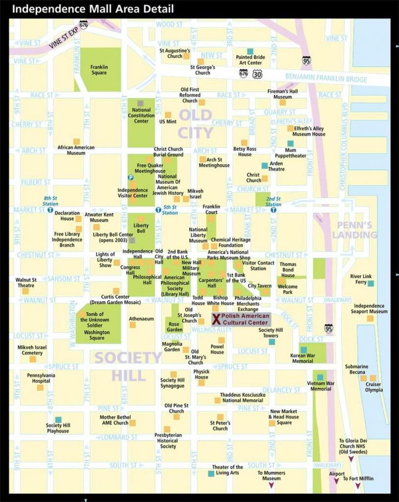 Historic Philadelphia Map - Map Of Historic Philadelphia - Printable Map Of Historic Philadelphia