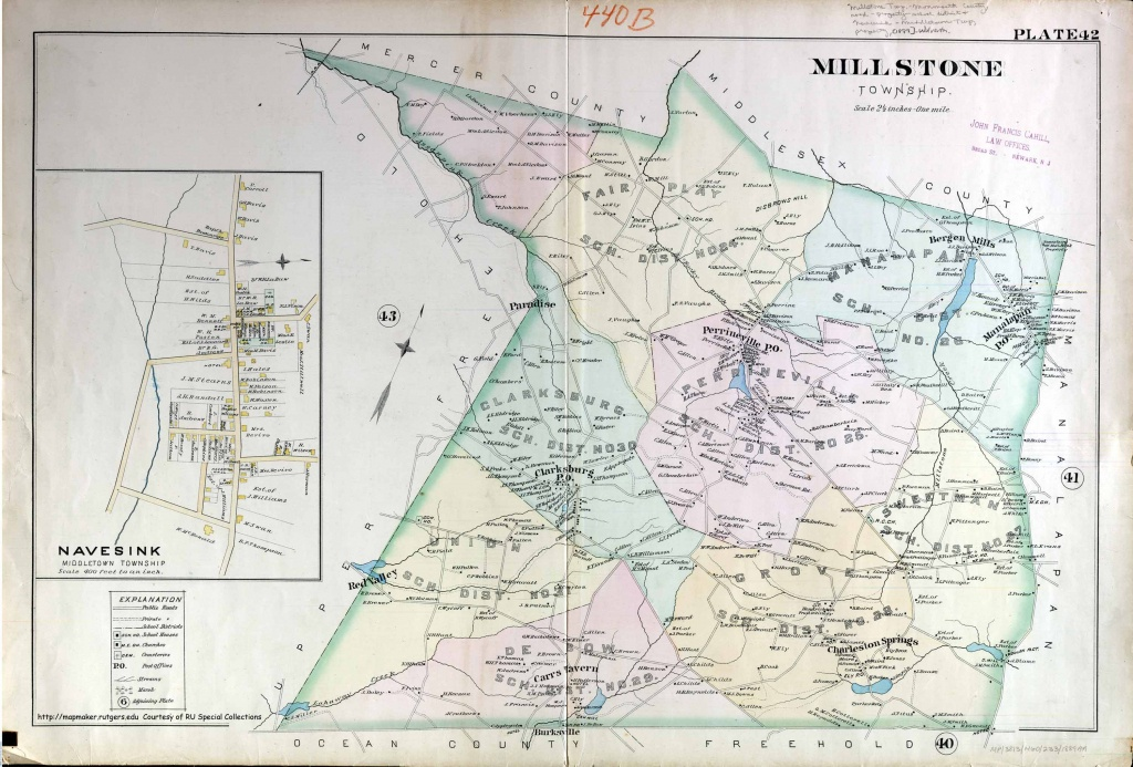 Historical Monmouth County, New Jersey Maps - Printable Map Of Monmouth County Nj