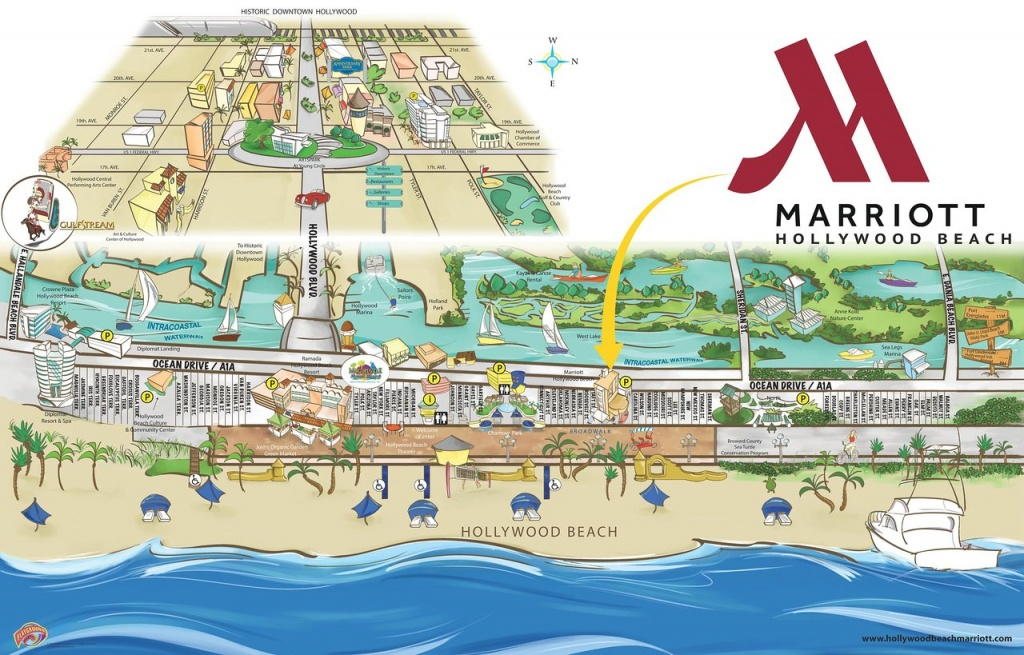 Hollywood Beach Marriott (Hollywood, Fl) - Foto's, Reviews En - Hollywood Beach Florida Map