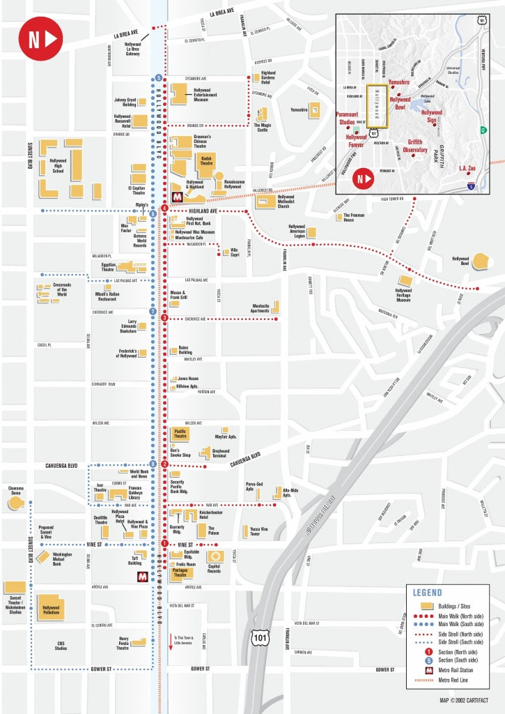 Hollywood Tourist Attractions Map - Los Angeles Tourist Map Printable