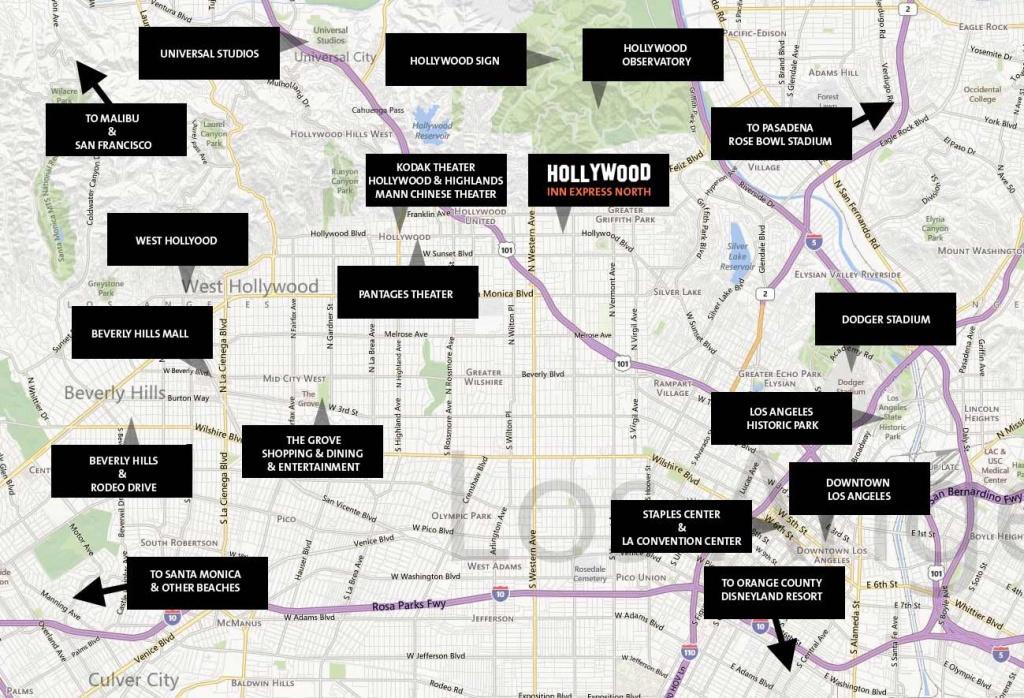 Hollywood Walk Of Fame Hotels, Universal Studio Hollywood Hotels - Map Of Hotels Near Universal Studios California