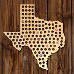 Home Wet Bar Giant Xl Texas Beer Cap Map Wall Décor | Wayfair   Texas Beer Cap Map
