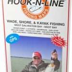 Hook N Line Map F103 Wade Fishing Map Of West Galveston Bay (With   Texas Wade Fishing Maps