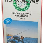 Hook N Line Map F112 Choke Canyon Fishing Map (With Gps)   Austinkayak   Texas Kayak Fishing Maps