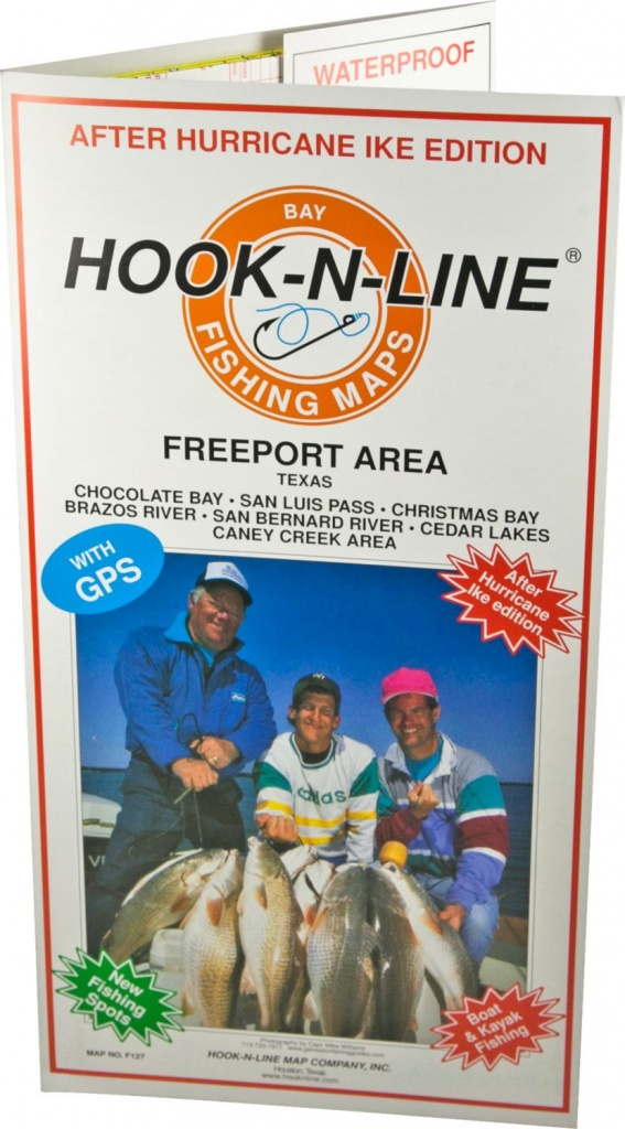 Hook-N-Line Map F127 Freeport Area Fishing Map (With Gps) - Austinkayak - Texas Wade Fishing Maps