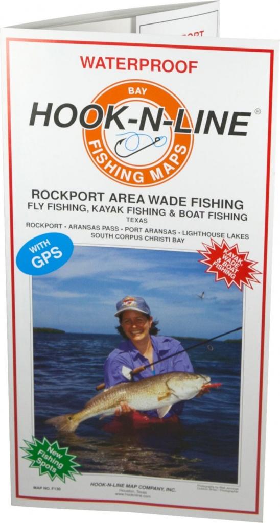 Hook-N-Line Map F130 Rockport Wade Fishing Map (With Gps) - Texas Fishing Maps Free
