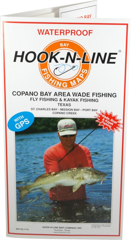 Hook-N-Line Map F133 Copano Bay Wade Fishing Map (With Gps - Texas Kayak Fishing Maps