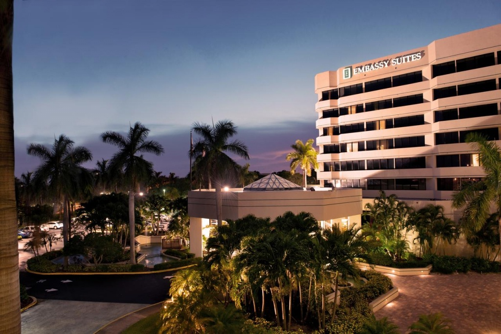 Hotel Embassy Suites Boca Raton, Fl - Booking - Embassy Suites In Florida Map