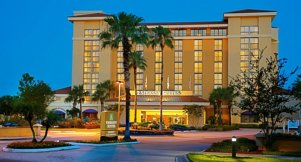 Hotel Embassy Suiteshilton Orlando, Fl - Booking - Embassy Suites In Florida Map